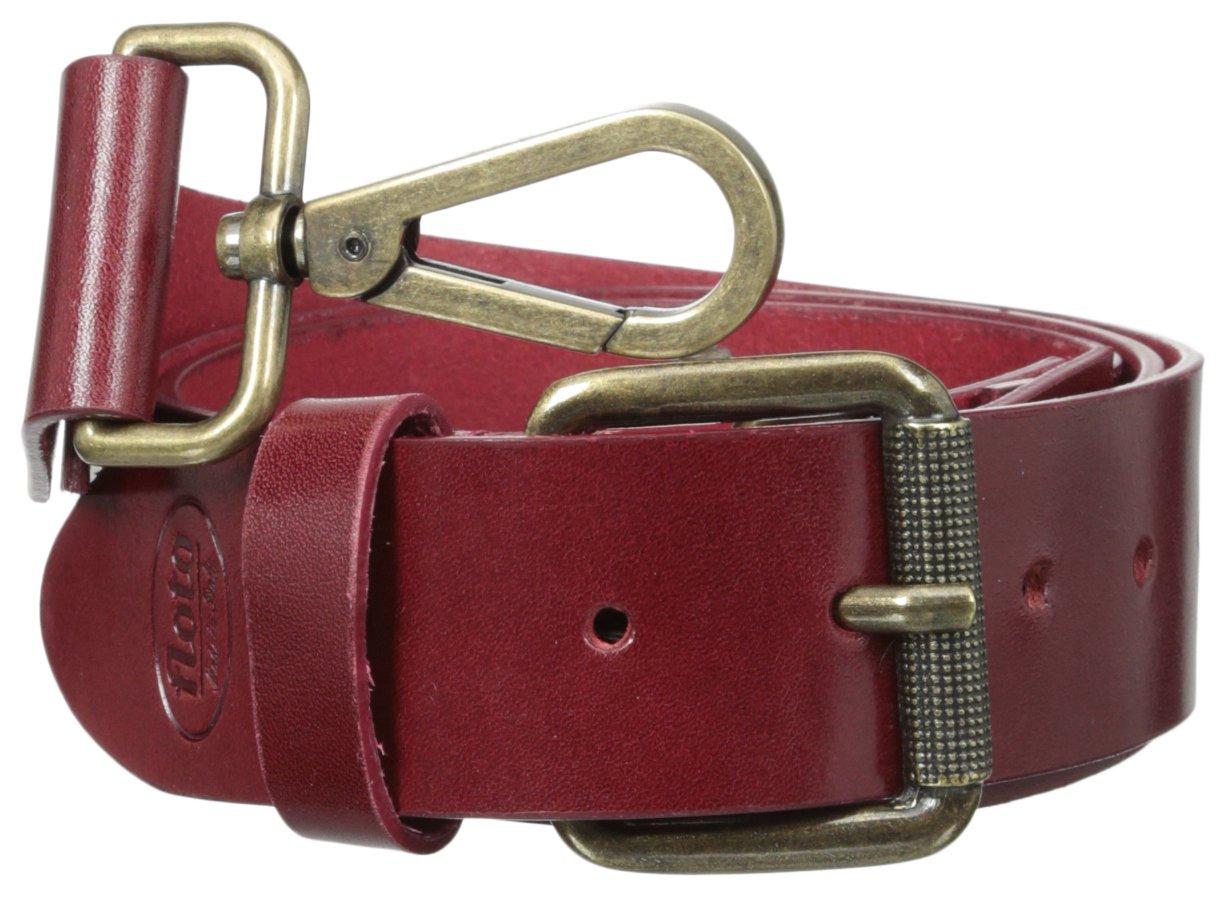 Olive Brown One Size Floto Imports 257 Floto Italian Calfskin Leather Belt Strap