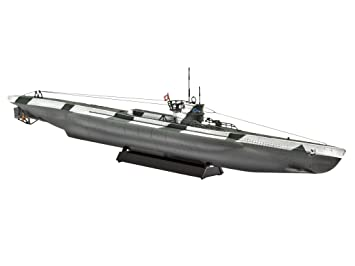 Revell 05107 - Maqueta del Submarino VII D (Escala 1:350, 28 ...