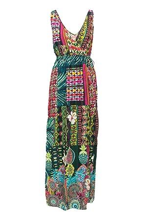 99c869b713c Desigual Robe Longue Femme Vest Jamaica 18SWMWX3 s Vert  Amazon.fr ...