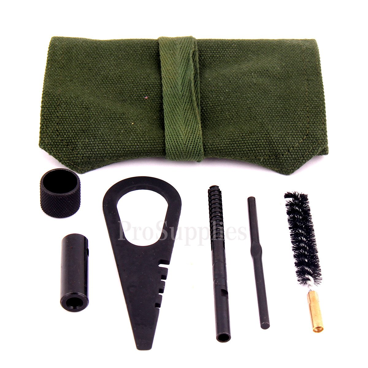 TACFUN Mosin Nagant Cleaning Kit/Cleaning Tools with Pouch LR 7.62x54R, Includes: Mosin Nagant Tool, Brush, Jag, Cleaning Rod Attachment, End Cap for Rod, Pouch