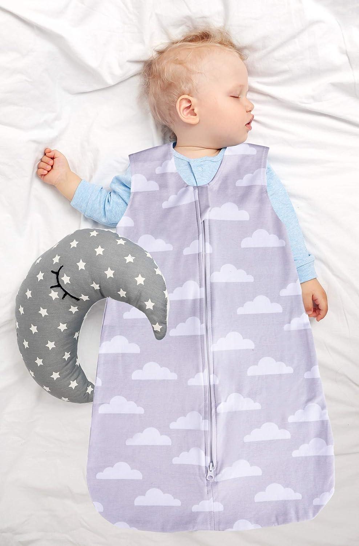 Jomolly Baby Jungen Schlafsack grau Cloud//Chevron 3-6 Monate
