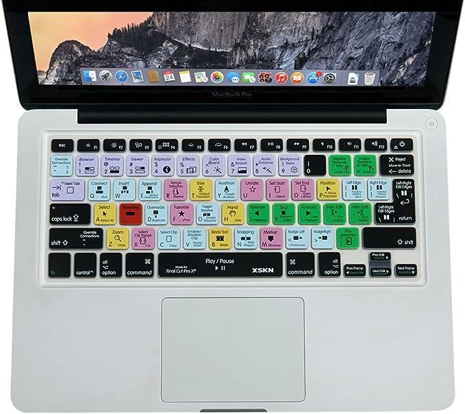 XSKN – Funda para el teclado de MacBook, MacBook Pro, MacBook Air, de 13, 15 y 17 pulgadas, con atajos: Amazon.es: Electrónica