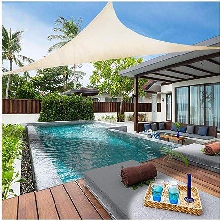 KOREY Dosel al Aire Libre Toldos,Toldo para Jardín 6.5x 6.5x6.5 Vela De Moho Impermeable Toldo Triangular con Protección UV 95% para Jardín Piscina Terraza Tamaño Personalizado (Size : 4X4X4M): Amazon.es: Hogar