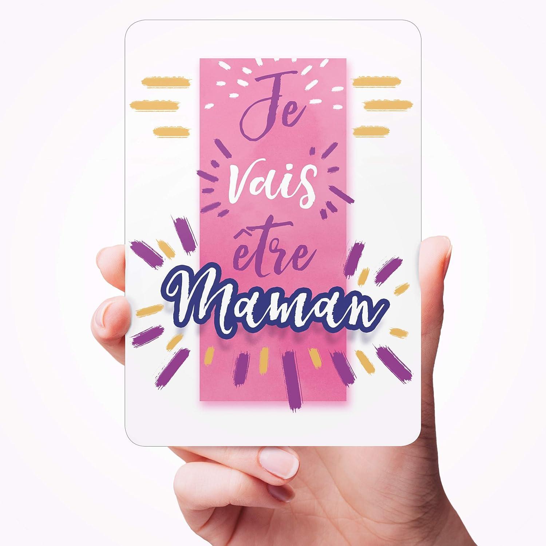 Carte Annonce de Grossesse Je vais /être Maman Une jolie photo pour se souvenir de ce pr/écieux moment