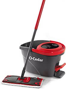 O-Cedar UltraMax EasyWring Microfiber Flat Spin Mop & Bucket Floor Cleaning System