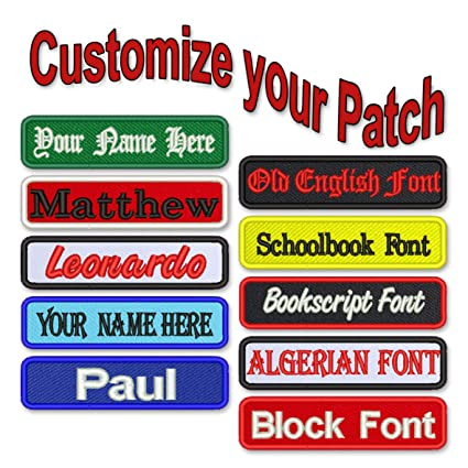 IRON ON NAME PATCH ASSORTED COLORS DENNIS  NEW EMBROIDERED  SEW