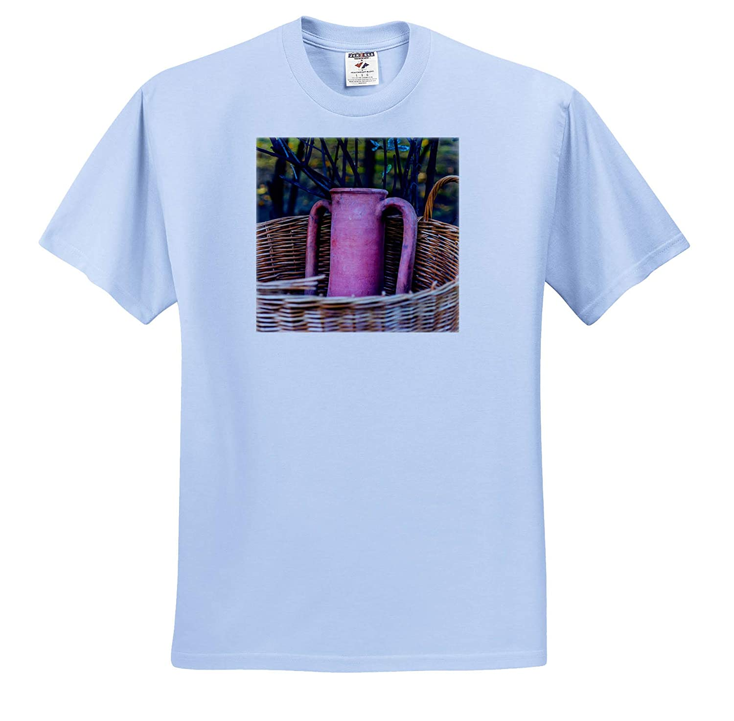 Image of an Ancient Amphora Vessel in a Wicker Basket 3dRose Alexis Photography T-Shirts Objects Amphora