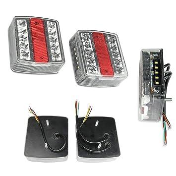 KDS 2 x E4 LED Anhänger Rücklicht Rückleuchten für Anhänger Licht ...