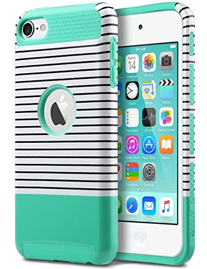 huge discount 0a279 64c00 ULAK Case for iPod Touch 5 & 6, iPod Touch 7 Case,Slim Fit Dual Layer  Hybrid Protective Case Hard Cover for Apple iPod Touch 5/6/7th Generation  ...