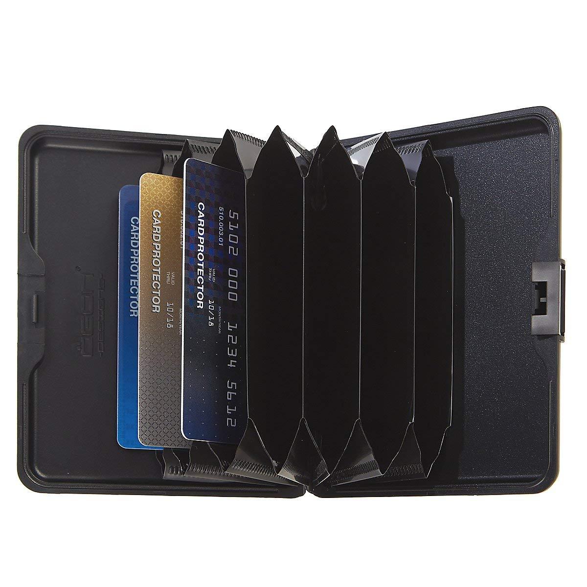 Olgon Big Stockholm Aluminum RFID Blocking Wallet Blue