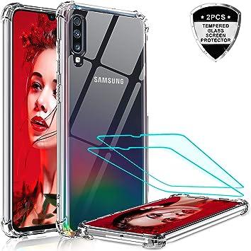 LeYi Funda Samsung Galaxy A70 con [2-Unidades Cristal Vidrio ...