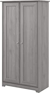 Bush Furniture Cabot 2 Door Tall Storage, Modern Gray