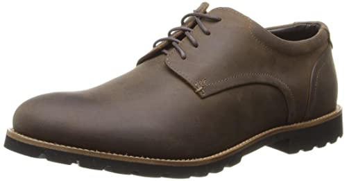 Rockport Men's Sharp & Ready Colben Brown Oiled Leather Oxford ...