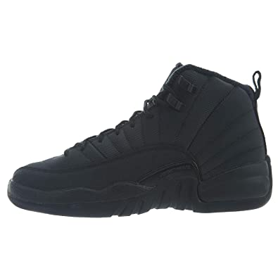 competitive price dd8d3 e3f73 Image Unavailable. Image not available for. Color  Nike Air Jordan 12 Retro  Winter GS Triple Black BQ6852-001 ...