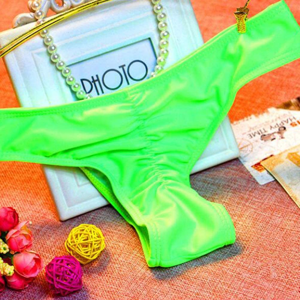 Fenical Costumi da Bagno Bikini Bottom Perizoma a Forma di V Bikini Underwear Mutande Traspiranti Summer Beachwear per Donne Ladies Verde
