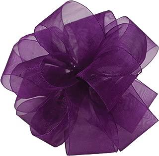 "product image for Offray Berwick LLC 135129 Berwick Simply Sheer Asiana Ribbon -1-1/2"" W X 100 yd - Regal Purple Ribbon"