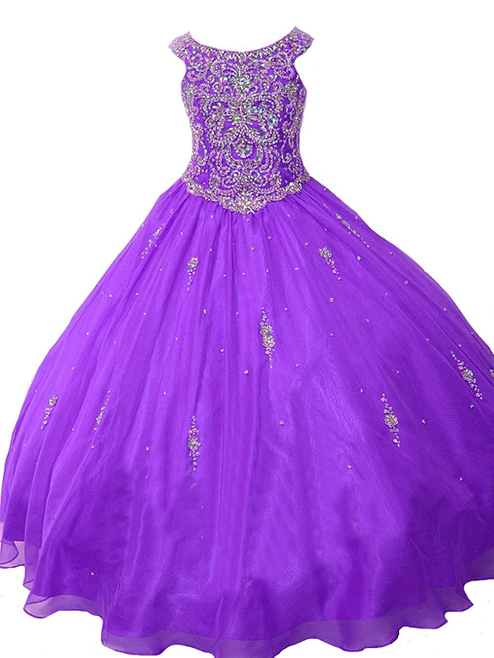 49b63e4d8d5 Amazon.com  TaYan Girls Birthday Party Ball Gown Crystals Beading Girls  Pageant Dresses  Clothing