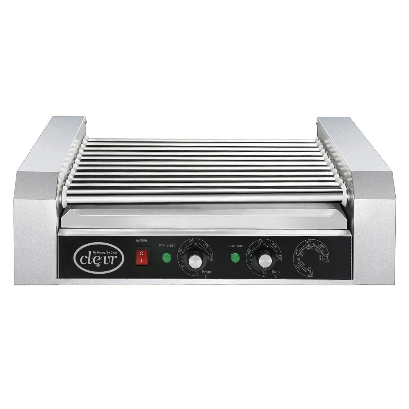 Clevr Commercial 11 Roller and 30 Hotdog Grill Cooker Warmer Hot Dog Machine by Clevr