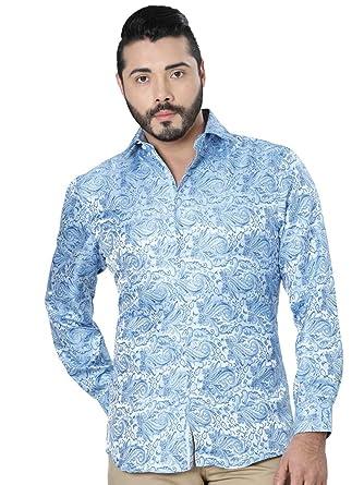 Camisa Casual M/Larga Centenario 100% Microfiber ID 41193 CW2G Azul Claro