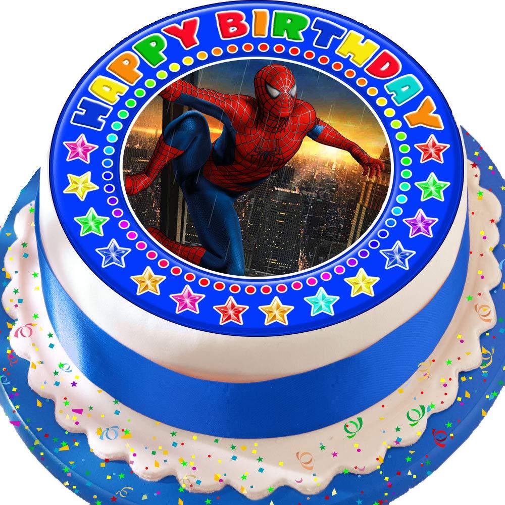 Spiderman Happy Birthday cumpleaños troquelada comestible ...