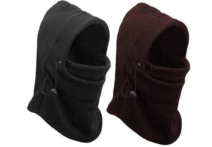 Eforstore 6 in 1 Thermal Fleece Balaclava Hat Hood Police Swat Ski Bike  Wind Stopper Mask 021bebbe1e4