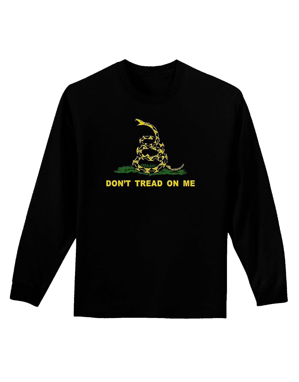 Dont Tread On Me Gadsden Flag Rattlesnake Adult Long Sleeve Dark T-Shirt