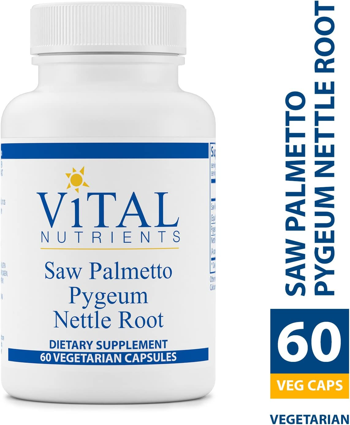 Vital Nutrients – Saw Palmetto Pygeum Nettle Root – Supports Healthy Prostate Function – 60 Capsules per Bottle