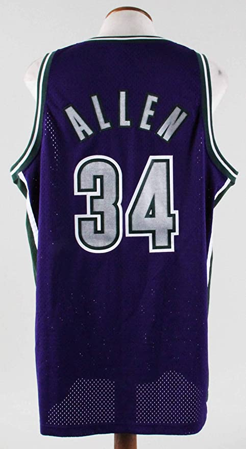 check out 2380e fa843 Ray Allen Authentic Jersey Milwaukee Bucks at Amazon's ...