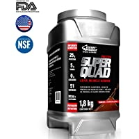 Proteína Aislada de suero en polvo Super Quad Protein Inner Armour 4 lb Chocolate Suplemento Gym (***Nueva Imagen, Misma Fórmula***)