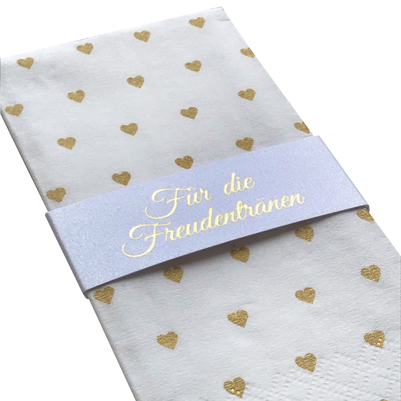 100 Fazzoletti Cuori d' oro per lacrime di gioia sul matrimonio KATINGA