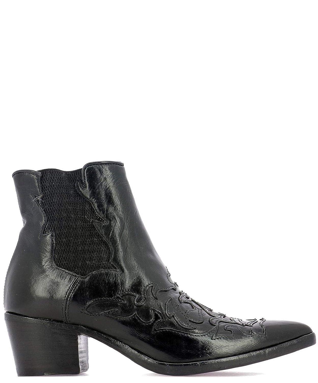 - Alberto Fasciani Women's URSULA64490BLACK Black Leather Ankle Boots