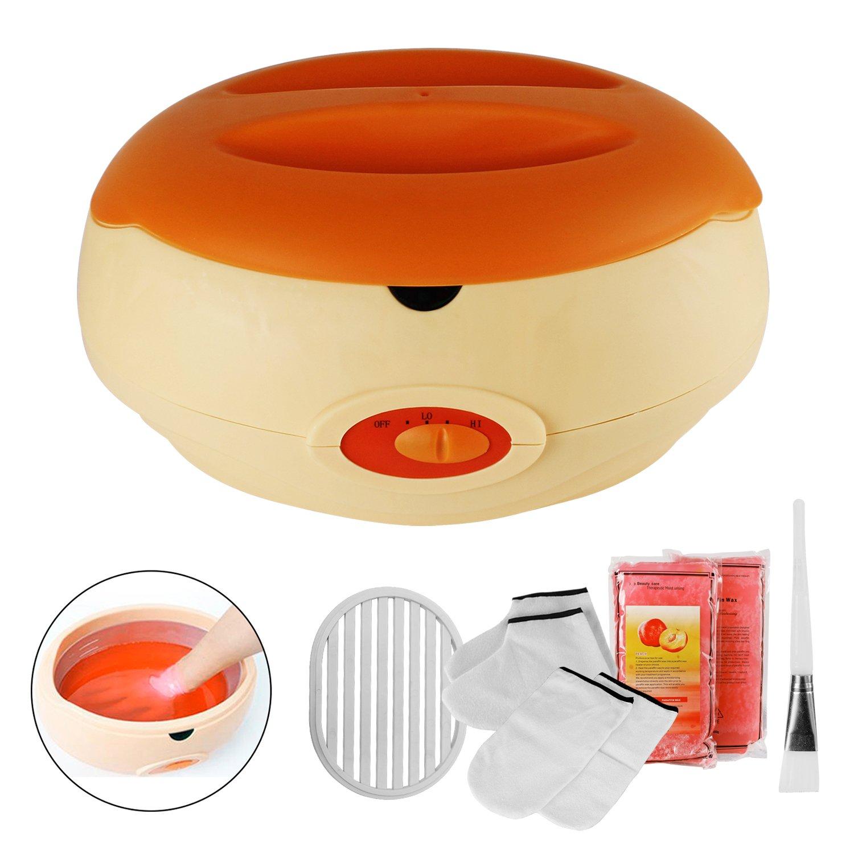 Bain De Cire De Bain De Paraffine Pour Les Mains Et Les Pieds Apporte À La Peau Avec L'Humidité Orange Avec Accessoires, YITOO