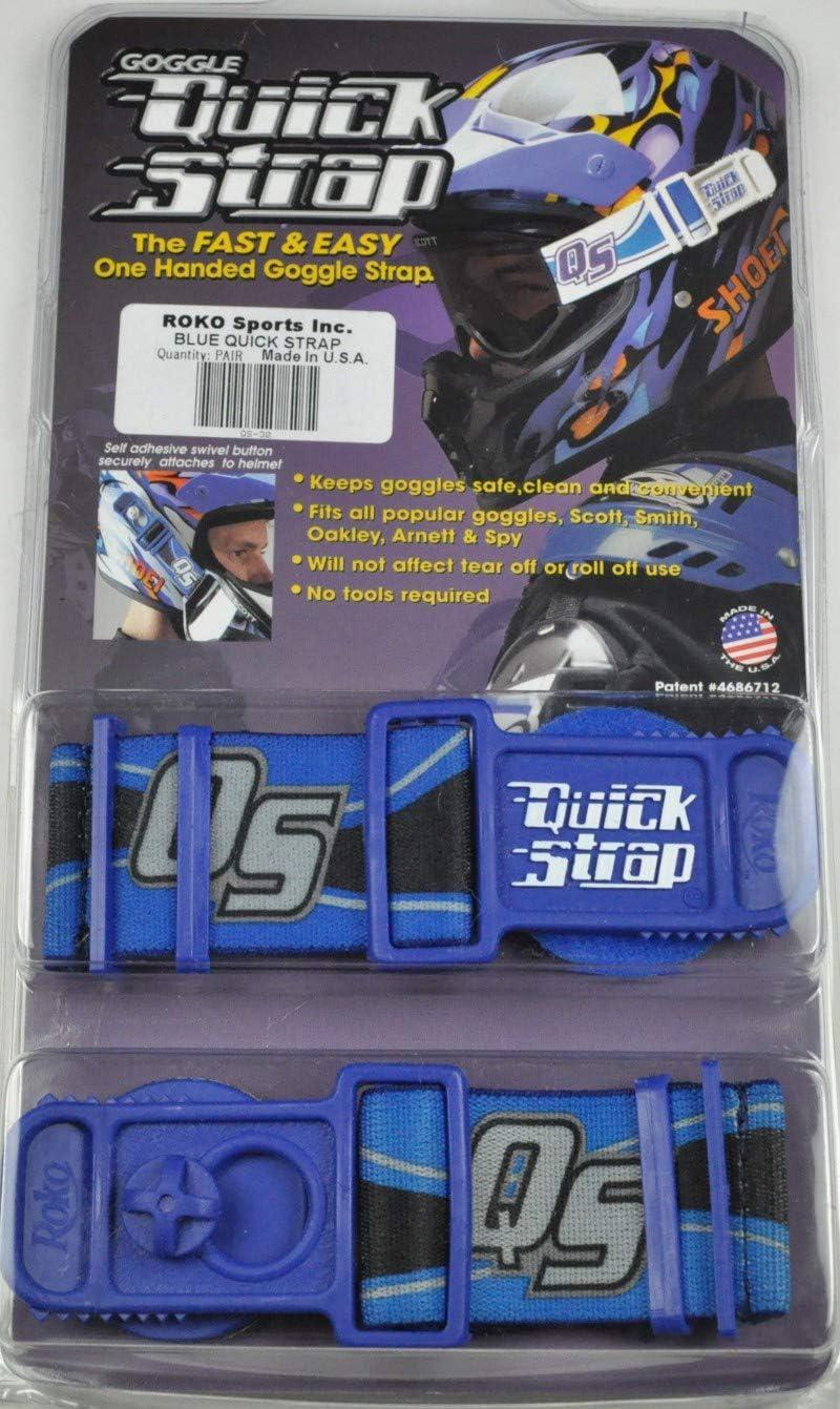 Roko Sports QS-30 Goggle Quick Strap Blue