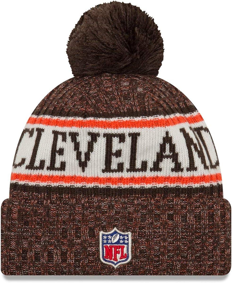 New Era Sideline Home 2019 Bommel Mütze Cleveland Browns