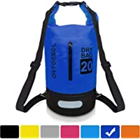 arteesol Waterproof Dry Bag, 5L/10L/20L/30L Backpack Dry Sack with Waist Strap for Beach Swim Kayaking Hiking - Protect Camera Cash Document from Water and Dirt
