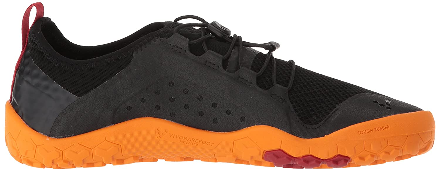 Vivobarefoot Mens Primus Swimrun Firm Ground Black Orange Mesh Trainers 41 EU Mecqk