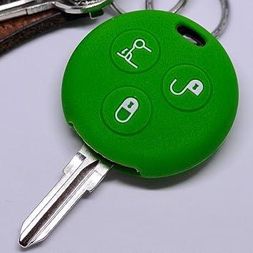 Soft Case Estuche Protector Suave Cubierta Llave del Coche Smart 450 Fortwo Convertible Coupé Key/Color Verde: Amazon.es: Electrónica
