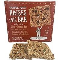 Trader Joe's Raises the Bar Gluten Free Chewy Granola Bars, Maple, 5 Count Box (2 Pack)