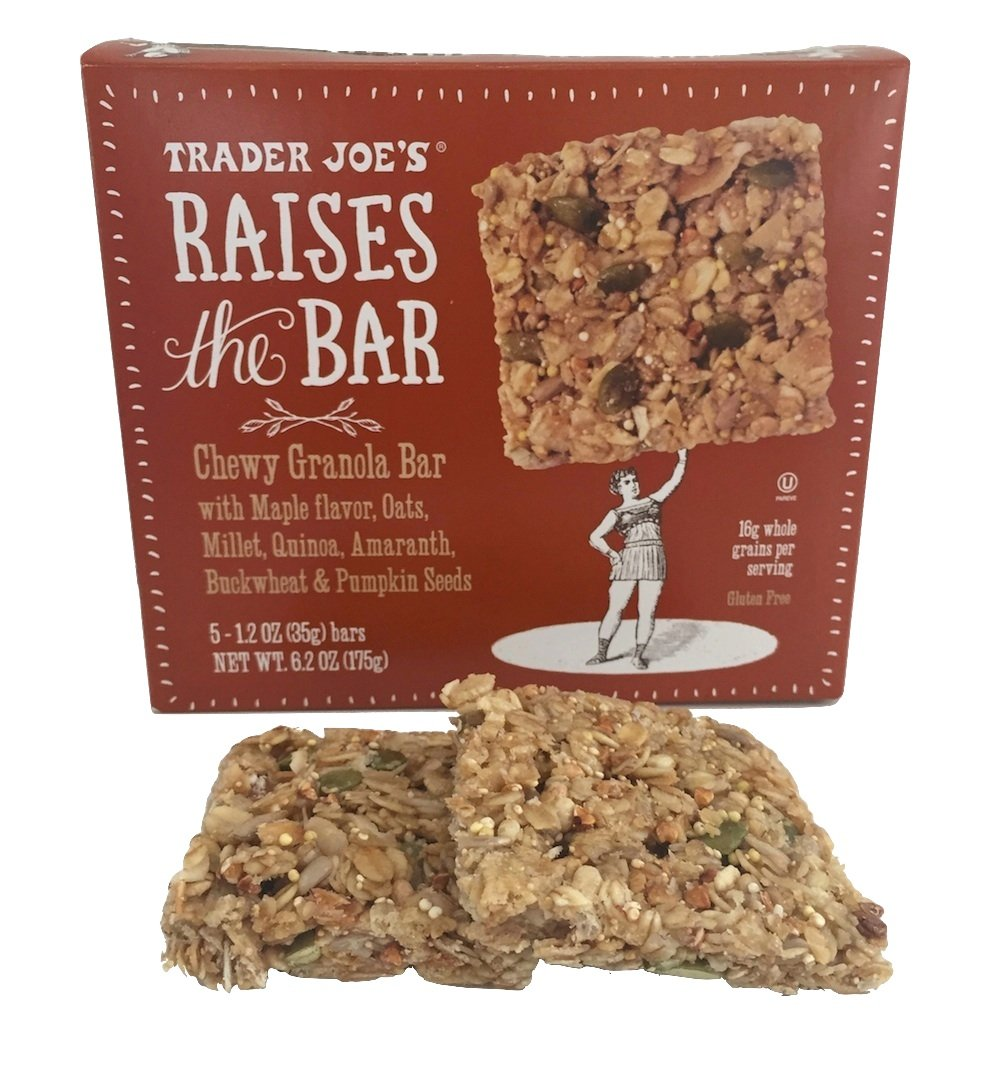 Trader Joe's Raises the Bar Gluten Free Chewy Granola Bars, Maple, 5 Count Box (2 Pack) by Trader Joe's