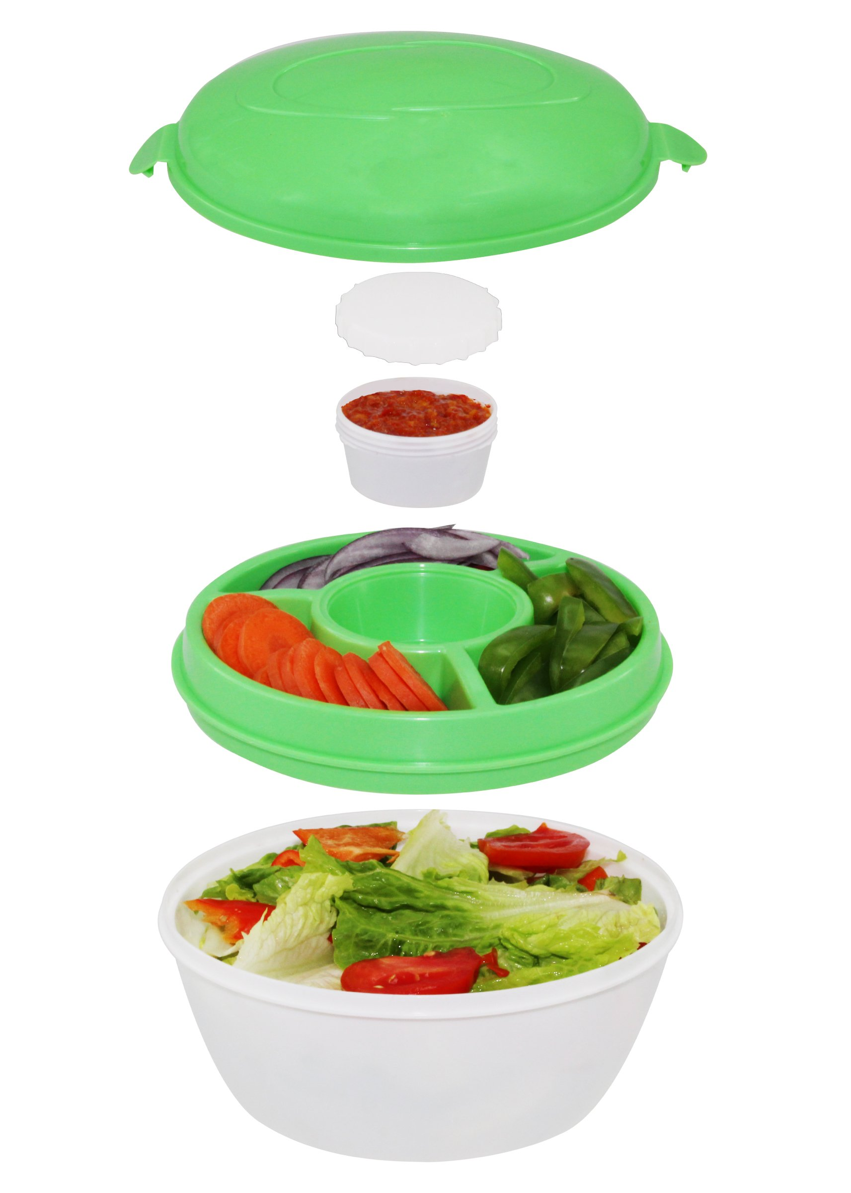 Chiller Bowl - Portable Salad Kit, 5 Piece Set by Grand Innovation