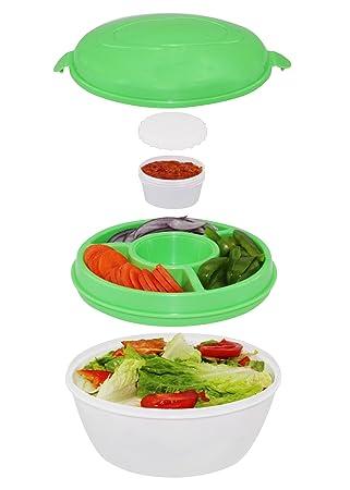 Exceptionnel Chiller Bowl   Portable Salad Kit, 5 Piece Set