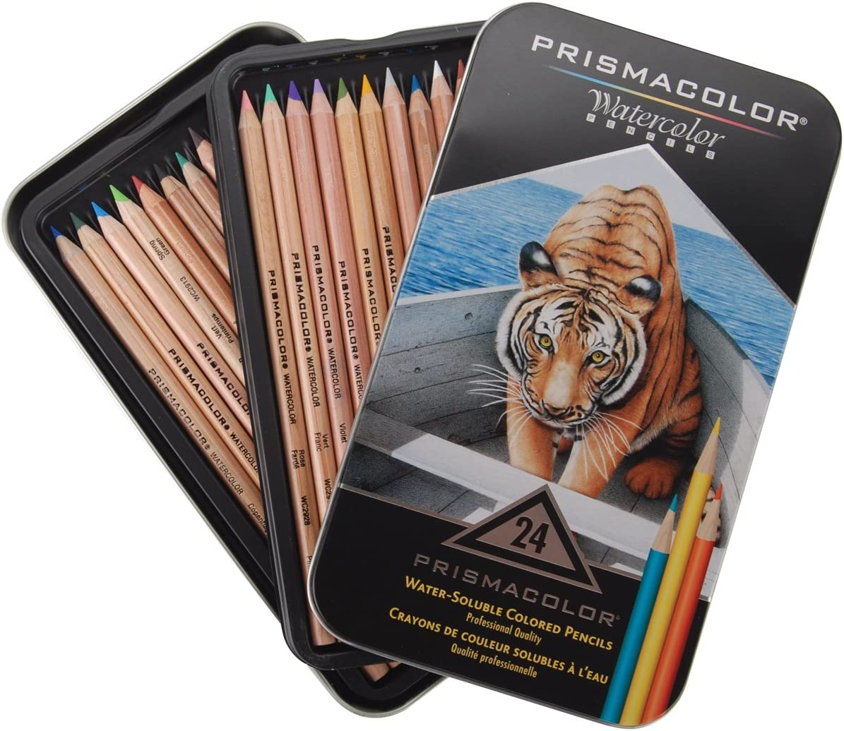 Prismacolor Premier Water-Soluble Colored Pencils 12 Pack New