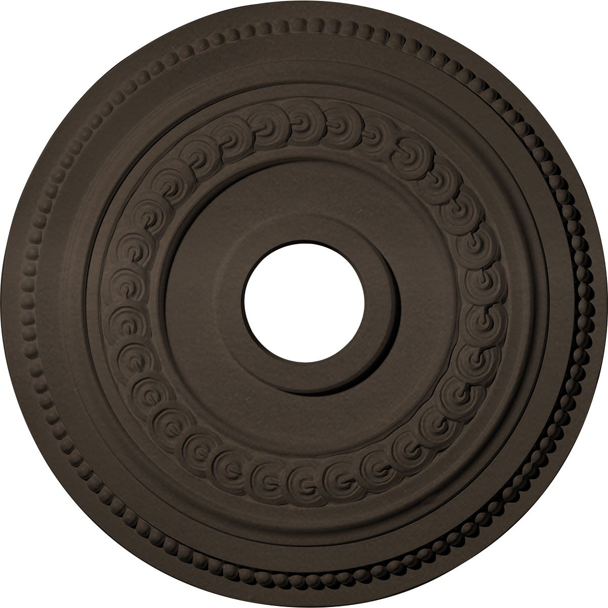 Ekena Millwork CM18OL1BZS Oldham Ceiling Medallion, Bronze
