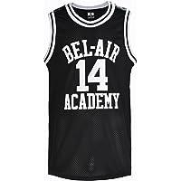 YueSheng The Fresh Prince of Bel Air Playera de Baloncesto #14 Will Smith Academy Jersey Negro