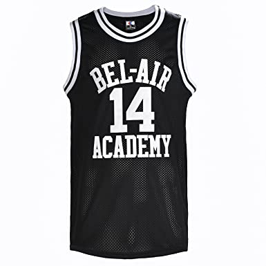 YueSheng The Fresh Prince of Bel Air Basketball Jersey  14 Will Smith  Academy Jersey Black 636b6fec5