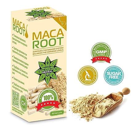 Raíz de maca - 80 cápsulas de polvo de maca | Cvetita Herbal - 1000 mg