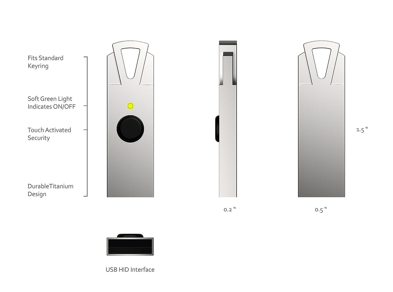 Amazon.com: HyperFIDO Titanium U2F Security Key, Universal ...