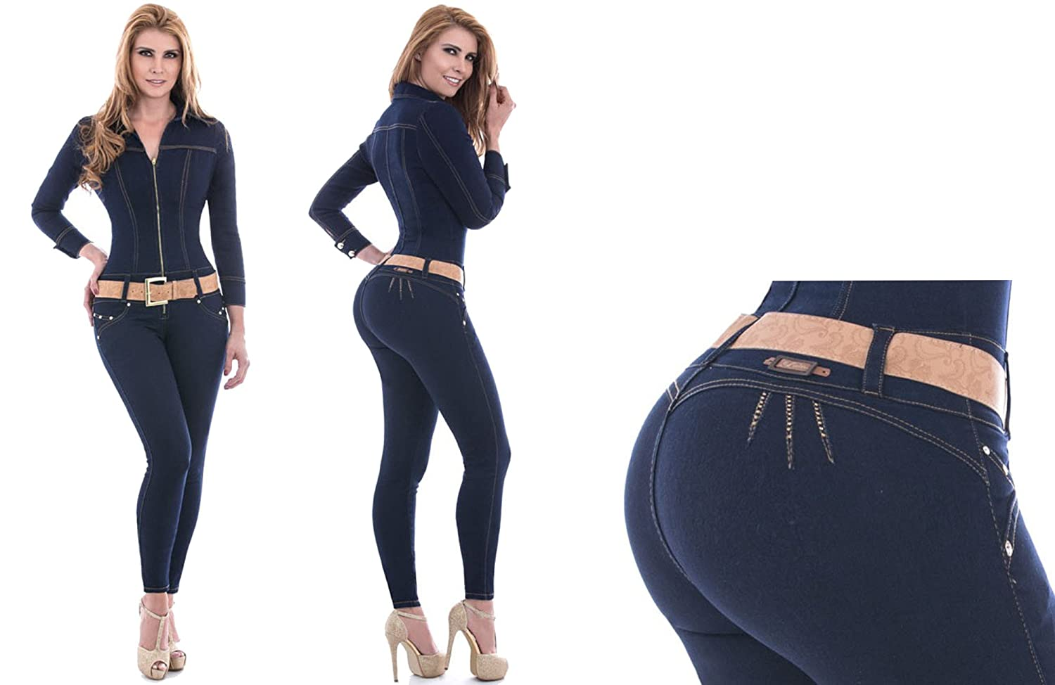 HADABELLA Enterizo Jeans Wonder/Push Up Súper Pitillo Skinny ...