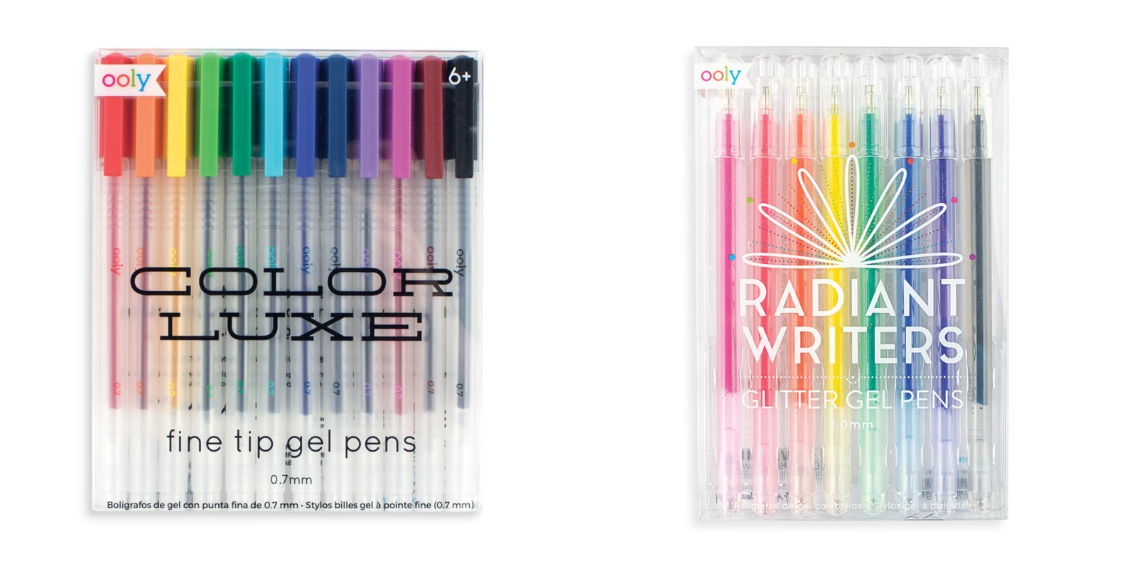 OOLY Radiant Writers Glitter Gel Pens and Color Luxe Gel Pen