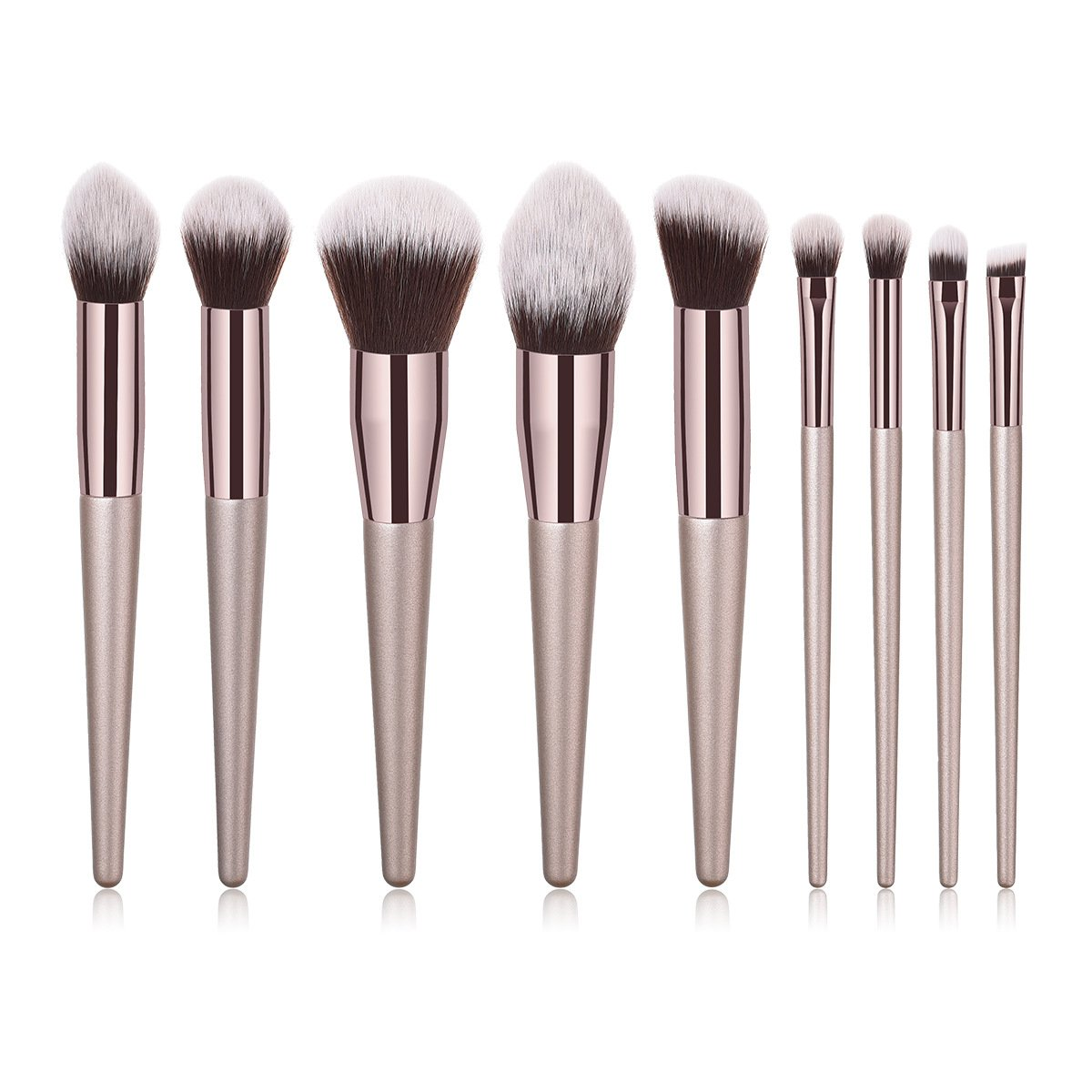 BBL 9PCs Professional Makeup Brush Set Premium Cosmetic Brushes for Foundation Powder Concealers Eye